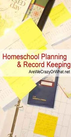 How to Plan for your homeschooling year and how to keep records. #beselfreliant