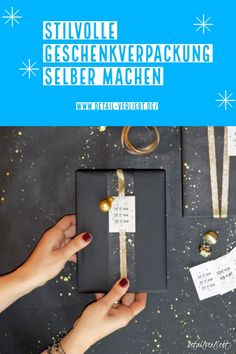 Individuelle und kreative Idee zum Geschenkverpacken. Kostenlose Vorlage zum Ausdrucken. Geschenke hübsch verpacken. Geschenke stilvoll verpacken. Freebie Etikett. Geschenkverpackung Weihnachten einfach selber machen. Gefunden auf www.detail-verliebt.de # Diy Weihnachten, Crafty, Winter, Christmas, Crafting, Templates Free, Last Minute Gifts, Winter Time, Xmas