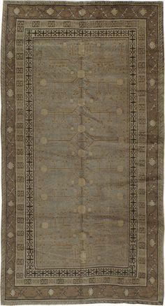 Antique Khotan Carpet, No. 16476 - 4ft. 7in. x 8ft. 7in.