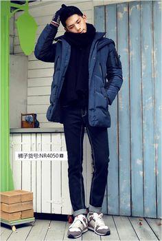 3d406d5c277 AMH Men Korean version of the 2015 winter new Slim multi-pocket men down  jacket and long sections Kay