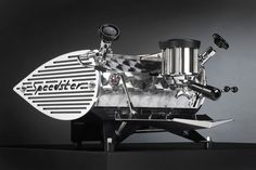 "When I win the lottery, this will be my espresso machine.  Art & Living so beautifully ""expressed"" ;-)  (sorry, couldn't help myself) Speedster Espresso Machine"