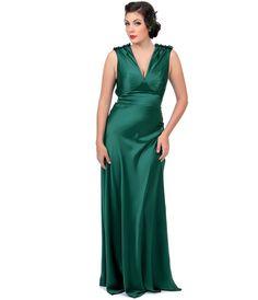 Cabaret Vintage - 1930s Style Emerald Satin Harlow Gown - P10623, $99.00 (http://www.cabaretvintage.com/vintage-style/1930s-style-emerald-satin-harlow-gown-p10623/)