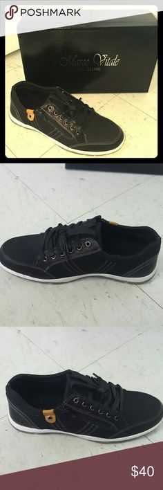 Mens black casual sneaker size 7.5 Mens black casual sneaker size 7.5 Marco Vitale Collezione  Shoes Athletic Shoes