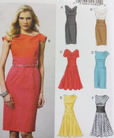 V8872 Easy Vogue Sewing Pattern Patron Couture Misses Options 6 Styles Dresses** #Vogue