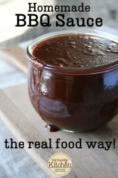 A Kansas City style, tomato based, sweet and tangy homemade bbq sauce! Robust, thick, and savory!