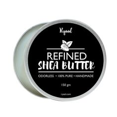 Organic Shea Butter by Ryaal - Use Alone or in DIY Body Butters, Lotions, Soap, Eczema & Stretch Marks Products, Lotion Bars, Lip Balms and More! (200g)