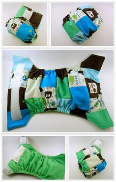Turquoise Ooga scrappy SuperFit OS pocket diaper