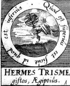 ALQUIMIA VERDADERA: Emblema 1. Hermes Trimegisto, el egipcioLo de arriba es como lo de abajo.