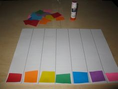 gluing matching color squares in columns