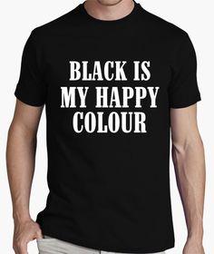 Camiseta Hombre, manga corta, negra, calidad extra