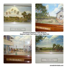 Dioramas at the Stephen Foster Museum down on the Suwanee River. Suwanee River, Stephen Foster, Rv Campgrounds, White Springs, State Parks, The Fosters, Florida, Museum, Restaurant