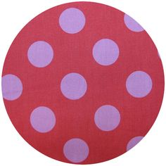 Prints Charming for Kokka, Daisy Chain, Large Dots Pink