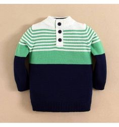 Jual sweater bayi anak Mom and Bab Sweater - Solid Button Neck Cable Sweater Green