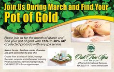 Check out our March Special at Oak Tree Spa