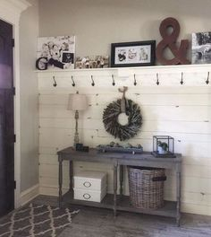 Make shelf sit higher up and no hooks