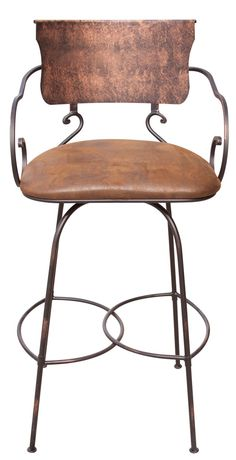 "Hand Forged 30"" Swivel Bar Stool"