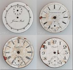 Clock Face freebie. Go to the link below this pic to get 9 different clock faces.
