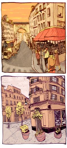 Paris  by Eleanor Doughty #urban #sketch #watercolor