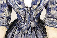 Dress - Dress Date: ca. 1842 Culture: British Medium: silk Dimensions: 57 1/2in. (146.1cm) Credit Line: Gift of Evelyn De Vivon Woodhull Cunningham, 1926