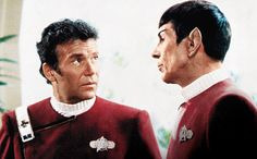 STAR TREK II: THE WRATH OF KHAN William Shatner and Leonard Nimoy