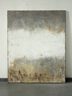 """Saatchi Art Artist Christian Hetzel; Painting, """"grey white brown"""" Mixed media and acrylic on canvas"""