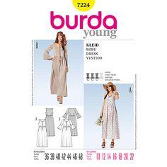 Buy Burda Women's Maxi Dress Sewing Pattern, 7224 Online at johnlewis.com