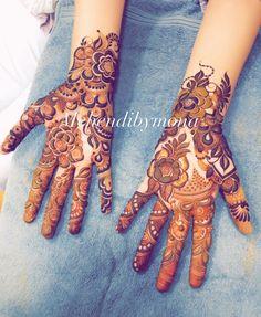 Khafif Mehndi Design, Floral Henna Designs, Back Hand Mehndi Designs, Stylish Mehndi Designs, Mehndi Design Pictures, Modern Mehndi Designs, Mehndi Designs For Girls, Mehndi Designs For Fingers, Dulhan Mehndi Designs