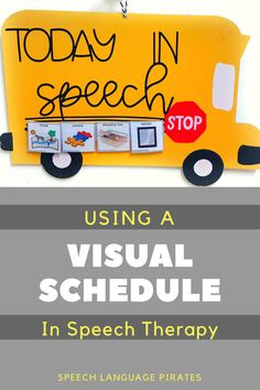 using a visual schedule in speech therapy