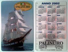 Calendarietto pubblicitario 2002 - Nave Scuola Palinuro