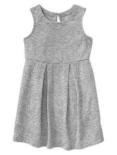 Marled slub pleat dress $25