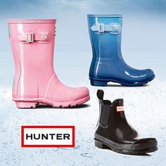 The bright new spring/summer collection from Hunter is here! #rainboots #hunterboots ✌️☂