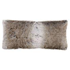 """Wolf Faux Fur Decorative Lumbar Pillow 15"""" X 32"""" Fur Pillow, Lumbar Pillow, Largest Wolf, Decoration, Timeless Fashion, Faux Fur, Decorative Pillows, Plush, Beige"""