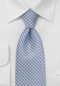 Love this pattern. #bowsnties Diamond Patterned Tie in Dusty Blue and Orange.