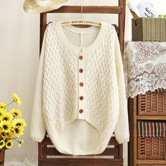 Patch Sleeves Cardigan for Women