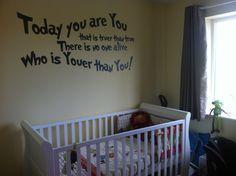 Dr Seuss nursery quote