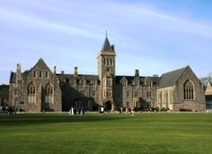 This is a picture of Taunton School in England, but I imagine the main building of Alabaster looks something like this.