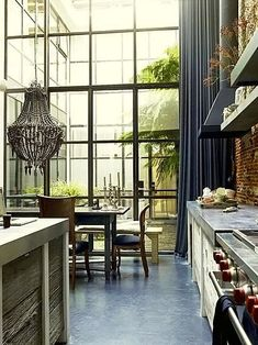 Top 25 Must See Kitchens on Pinterest Houses Architecture, Interior Architecture, Steel Windows, Big Windows, Wall Of Windows, Atrium Windows, French Windows, Wooden Windows, Black Windows