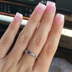 My glitter acrylic nails