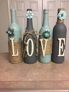 """I make custom wine bottles. I can designs any color or style you would like. - """" Informations About I make custom wine bottles. I can designs any color or style you would like - Custom Wine Bottles, Wine Bottle Art, Glass Bottle Crafts, Painted Wine Bottles, Diy Bottle, Beer Bottle, Decorated Bottles, Vodka Bottle, Bottle Opener"""
