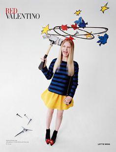 レッド ヴァレンティノ2014秋冬の広告にロッティ・モス - 撮影はティム・ウォーカーの写真4