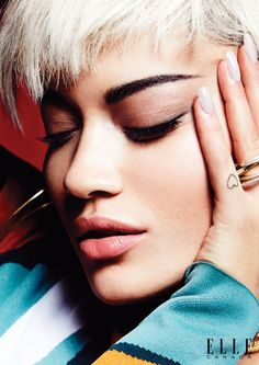 Rita Ora looks gorgeous in a closeup shot featuring shimmering eyeshadow Pose on ELLE Canada February 2016 issue Photoshoot Rita Ora, Eyebrow Makeup Tips, Best Makeup Tips, Makeup Ideas, Eye Makeup, Growing Out Eyebrows, Eyebrow Grooming, Filling In Eyebrows, Elle Magazine