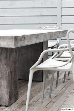 design,tuoli,terassi,terassikalusteet,betonipöytä