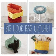 You might know Dedri Uys from her first book, Amamani Puzzle Balls, or from the gorgeous Sophie's Universe blanket… and I'm so excited to see she has a brilliant new book coming out, Big Hook Rag Crochet: 25 Quick-Stitch Designs to Make Using Leftover Fabric!! It's debuting next month, but available for pre-orderand big savingsnow …