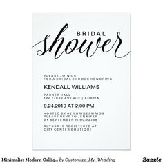 Bridal shower invite heart shower invite simple modern bridal minimalist modern calligraphy bridal shower invitation filmwisefo