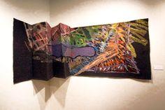 Divine Intervention x handwoven tapestry Weaving Designs, Fibre Art, Tapestries, Hand Weaving, Ideas, Hanging Tapestry, Hand Knitting, Tapestry, Wallpapers