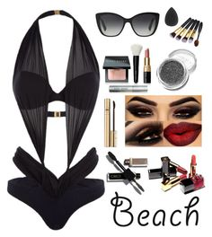 """""""Beach"""" by annawell-1 ❤ liked on Polyvore featuring Agent Provocateur, Dolce&Gabbana, Bobbi Brown Cosmetics and Chanel"""