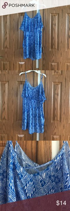 Romper Maurice's is blue and white romper Maurices Pants Jumpsuits & Rompers