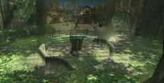 RBCA Locations from Twilight Princess overlaid with what they're theorized to have looked like 100 years ago during Ocarina of Time. - Sacred Grove/Castle Town