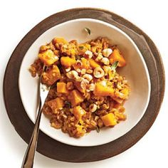 Farrotto with Butternut, Gruyère, and Hazelnuts | CookingLight.com