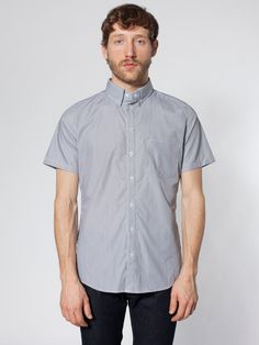 American Apparel - Italian Short Sleeve Button-Down